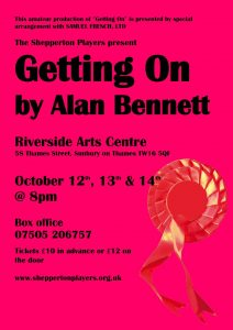 """Getting On"" by Alan Bennett @ Riverside Arts Centre 