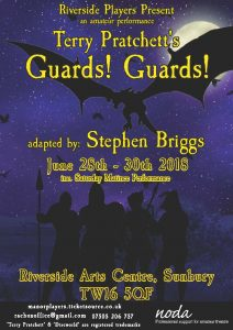 Guards Guards! by Terry Pratchett @ Riverside Arts Centre | Sunbury-on-Thames | England | United Kingdom